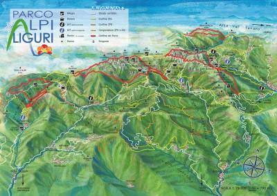 Cartina ParcoAlpiLiguri