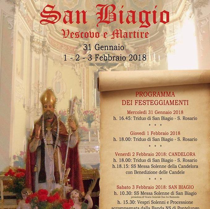 Fino al 3 febbraio – Festa di S. Biagio a Montegrosso P.L.