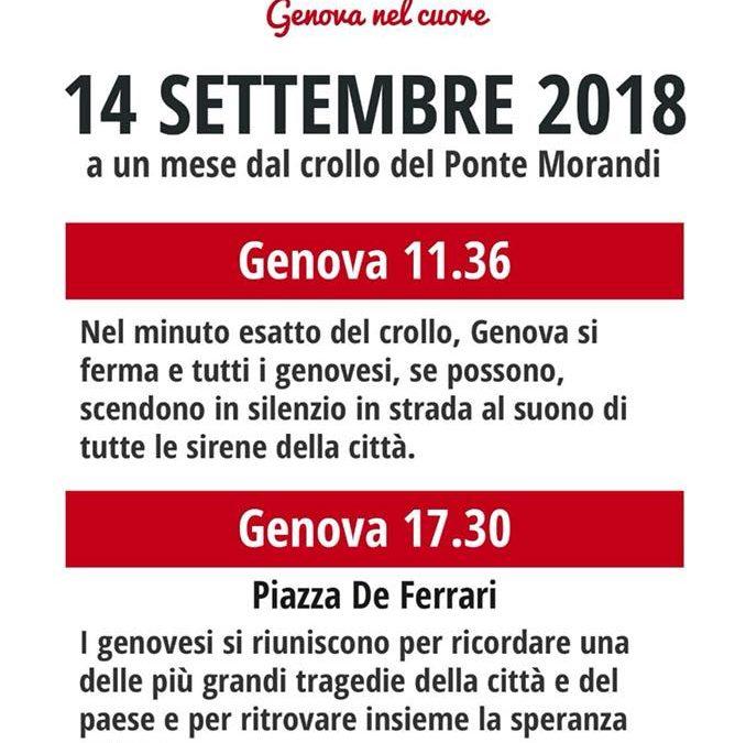 14 settembre – Commemorazione Ponte Morandi