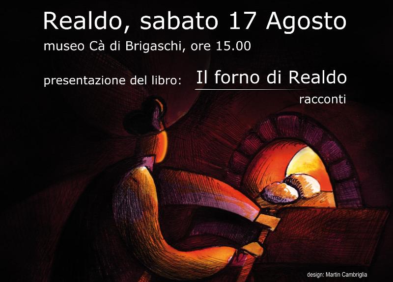 """17 agosto – Presentazione libro """"Il forno di Realdo"""""""