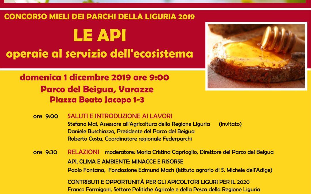 1 dicembre – Concorso Mieli Parchi Liguria convegno finale