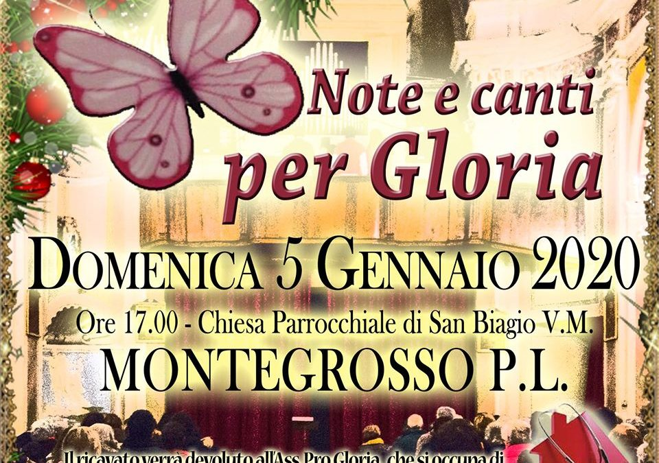 5 gennaio – Note e canti per Gloria a Montegrosso