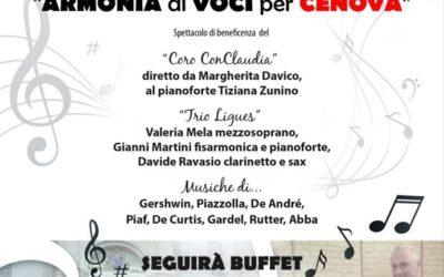 """In evidenza – Concerto """"Armonia di voci per Cènova"""" a Imperia"""