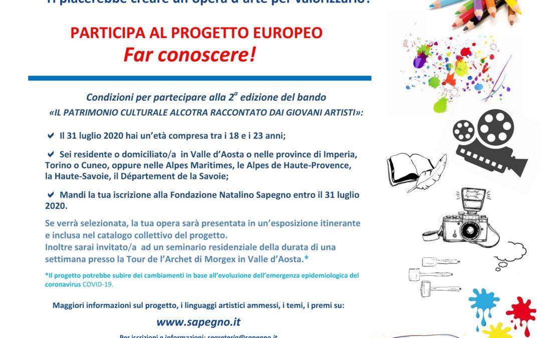 """Concorso per giovani artisti """"Il patrimonio culturale Alcotra"""""""