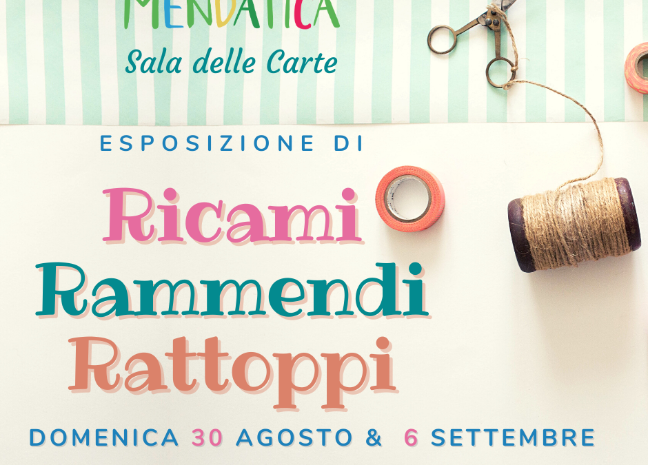 Fino al 6 settembre – Ricami, rammendi e rattoppi a Mendatica