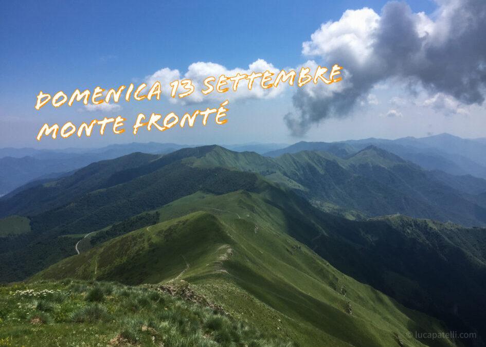13 settembre – Sul Monte Fronté con Ponente Experience