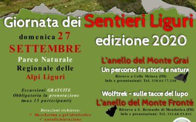 27 settembre – Giornata dei Sentieri Liguri 2020: le escursioni nel Parco