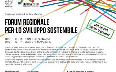 10 dicembre – Forum Regionale per lo Sviluppo Sostenibile