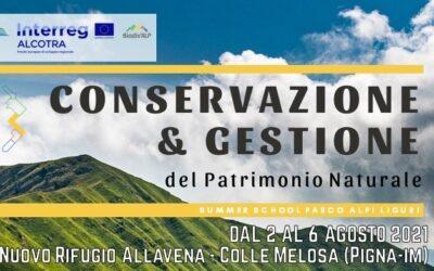 """2-6 agosto Summer School """"Conservazione e Gestione del Patrimonio Naturale"""" nel Parco"""